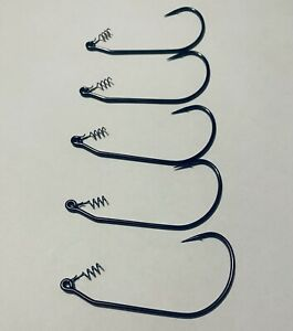 7/0, 8/0, 9/0 Weightless Mustad Screwlock Swimbait Hooks Pack of 5