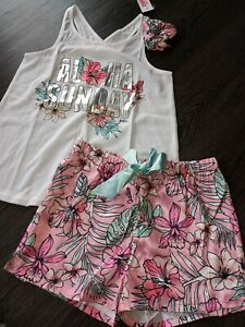 Girls justice 3pc  tropical sleep set size 10 new