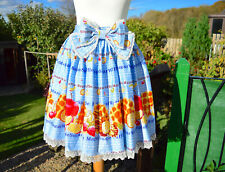 BODYLINE maple sugar waffle skirt ~ NWT ~ sax blue ~ S - M UK 8-12 Japan Lolita