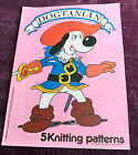 Dogtanian picture knit Sweaters 5 designs knitting pattern Gary Kennedy INTARSIA