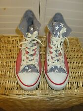 CONVERSE CHUCK TAYLOR ALL STARS RED WHITE BLUE STARS STRIPES MENS 8.5 W 1005