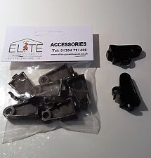 6 Elite Greenhouse Black Plastic Grow Hooks with Crop Heads - Lightweight