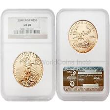 USA 2008 Eagle $50 1 oz Gold Coin NGC MS70