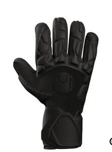Uhlsport BLACK EDITION SUPERGRIP HN goalkeeper gloves (Size 10)