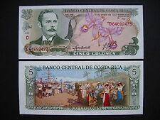 Costa Rica 5 colones 15.1.1992 (p236e) UNC