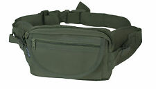 NEW Olive Green WAIST PACK Large Size - 3 Pouch Pocket Bum Day Belt Carry Bag