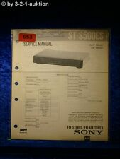 Sony Service Manual ST S500ES Tuner  (#0653)
