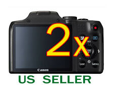 2x Canon PowerShot SX170 IS Clear LCD Screen Protector Guard Shield Film