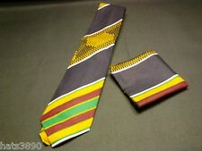 tie kente cloth pattern cotton dark blue maroon white yellow gold,new