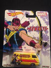 B28)2016 Hot Wheels C Case Pop Culture Marvel Hawkeye '66 Dodge A100 Real Riders