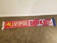Liverpool v Stoke City Vintage Football Scarf Soccer Bufanda Fancy Bar Fan 0203