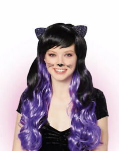 Claire's Cat Ears Curly Wig Black New with Tags
