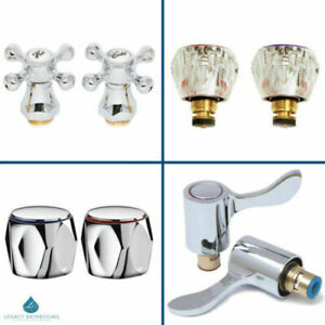 """1/2"""" Chrome Tap Replacement Reviver Kit Full 1/4 Turn Lever Conversion Adapter"""