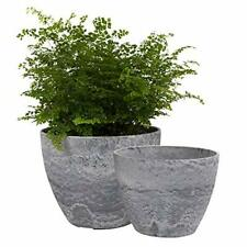 Flower Pots Outdoor Indoor Garden Planters, Plant Containers with Drain Hole, Gr