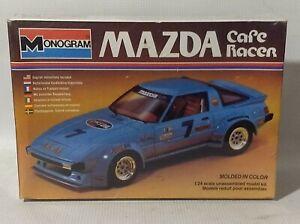 SEALED NEW Vintage Monogram #2277 1/24 Mazda RX-7 Cafe Racer - Model Car Kit