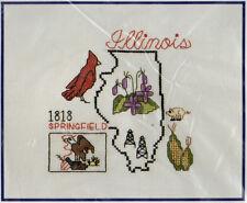 Counted Cross Stitch Kit American Heritage Illinois State Betty H Shelton Needle