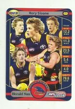 2014 TEAMCOACH HERALD SUN ADELAIDE CROWS RORY SLOANE B& F QUIZ CARD 01 FREE POST
