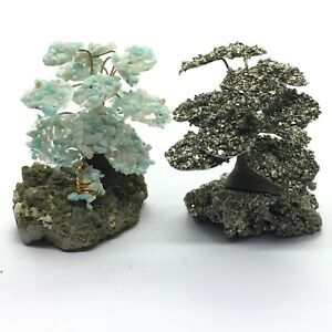 Small Moyogi Crystal Trees , Pyrite or Amazonite, ave height 50 mm