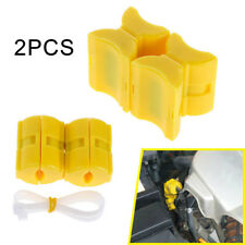 2Pcs ABS Universal Magnetic Fuel Saver for Vehicle Gas Reduce Emission Yellow SN