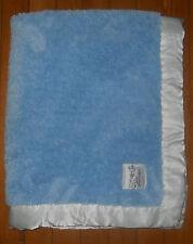 """Little Giraffe Chenille Blanket Blue White Satin Border 28""""x 34"""" Large"""