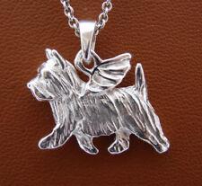 Sterling Silver Norwich Terrier Angel Pendant