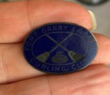 Vintage FORT GARRY LADIES CURLING CLUB Sterling Silver Enamel Winnipeg