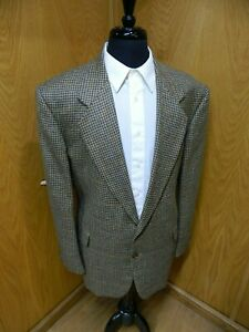 Mens Blazer Sport coat Jacket Oscar De La Renta 48r Wool Multi Plaid  NWOT S#14