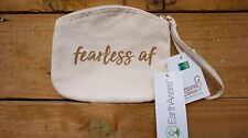 Make Up Bag With Zip, Wrist Strap And Slogan 100% Brushed Cotton Canvas