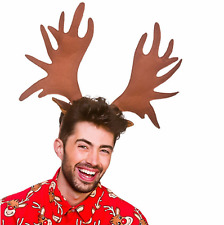 Adults Giant Antlers Horns Reindeer Moose Animal Fancy Dress Christmas Halloween