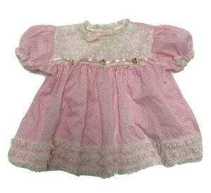 Vintage Hugs & Kisses baby girls dress size 12 months