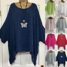 Plus Size Women Long Sleeve Kaftan Baggy Blouse T Shirt Tops Ladies Casual Tunic