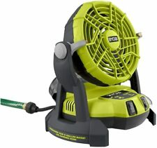 NEW RYOBI 18-Volt ONE + Portable Bucket Top Misting Fan (Tool Only)