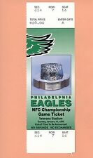 Philadelphia Eagles 1996 NFC Championship ticket stub NFL 1995