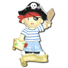 Personalized Little Pirate Skull Pirates of the Caribbean Christmas Ornament