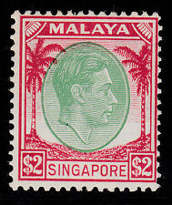 Singapore Malaya 1948 Mint MLH Part Set Definitives King George VI KGVI SG14