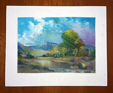 CESAR GARDUñO ORIGINAL WATER COLOR INK ON THICK PAPER PAINTING