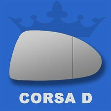 Vauxhall Corsa D wing door mirror glass 06-14 Right Driver side with Blind Spot