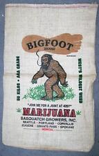 BIG FOOT WEED STRAIN BURLAP BAG 037 marijuana bags sack pot leaf strains monster