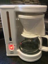 Melitta Gevalia Kaffee BCM-4C White 4 Cup Coffee Maker Excellent Condition