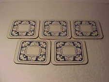5 Dedham Pottery Rabbit Coasters Not Pottery Cork Backed Nice