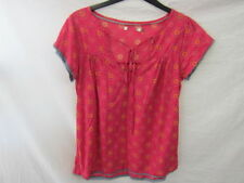 Cap Sleeve Floral 100% Cotton Tops for Women