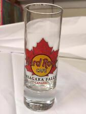 Hard Rock Cafe NIAGARA FALLS CANADA Maple Leaf City Shot Glass 2007 NEW, MINT