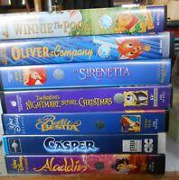 N. 7 VIDEOCASSETTE VHS CASSETTE FILM NEGOZIO CARTONI ANIMATI WALT DISNEY