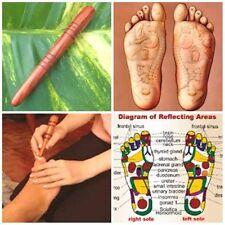 Wooden stick thai foot massage tool reflexology relaxtherapytraditional massager