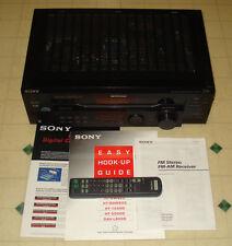 ~Sony Model STR-DE445 FM/AM Stereo Receiver Digital Audio System + Remote ~WORKS