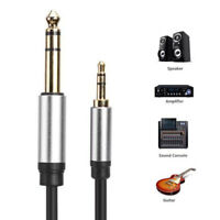 3.5mm Male to 6.35mm Male Jack Connector Audio Cable for Amplifier Loudspeaker M