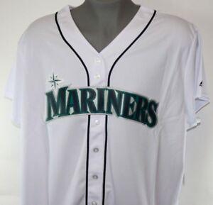 NEW Womens MAJESTIC Seattle Mariners Home White Cool Base Baseball Jersey