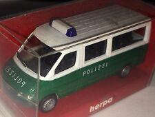 """herpa 043045 – MB Sprinter Bus """"POLIZEI grün/weiß"""", H0 1:87, neu + OVP"""