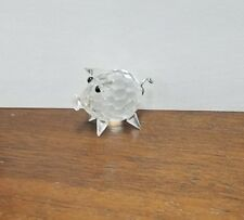 """Swarovski crystal Pig metal tail 1"""" long block logo"""