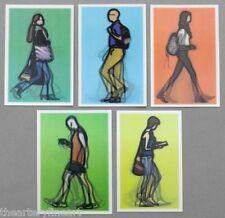 JULIAN OPIE 'Walking in London II' 5 Lenticular 3-D Motion Art Postcards **NEW**